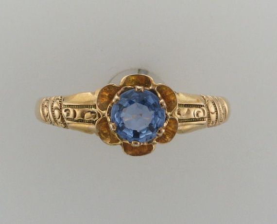 Sold Ladies 10 Karat Yellow Gold Blue Sapphire By Pattyhansengallery 285 00 Lovely Jewellery Gorgeous Jewelry Precious Jewelry