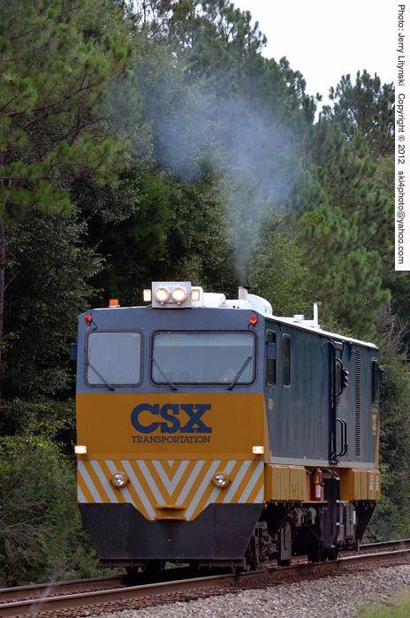 CSX's GMS-1 [Gauge Measurement System] unit on the move on P