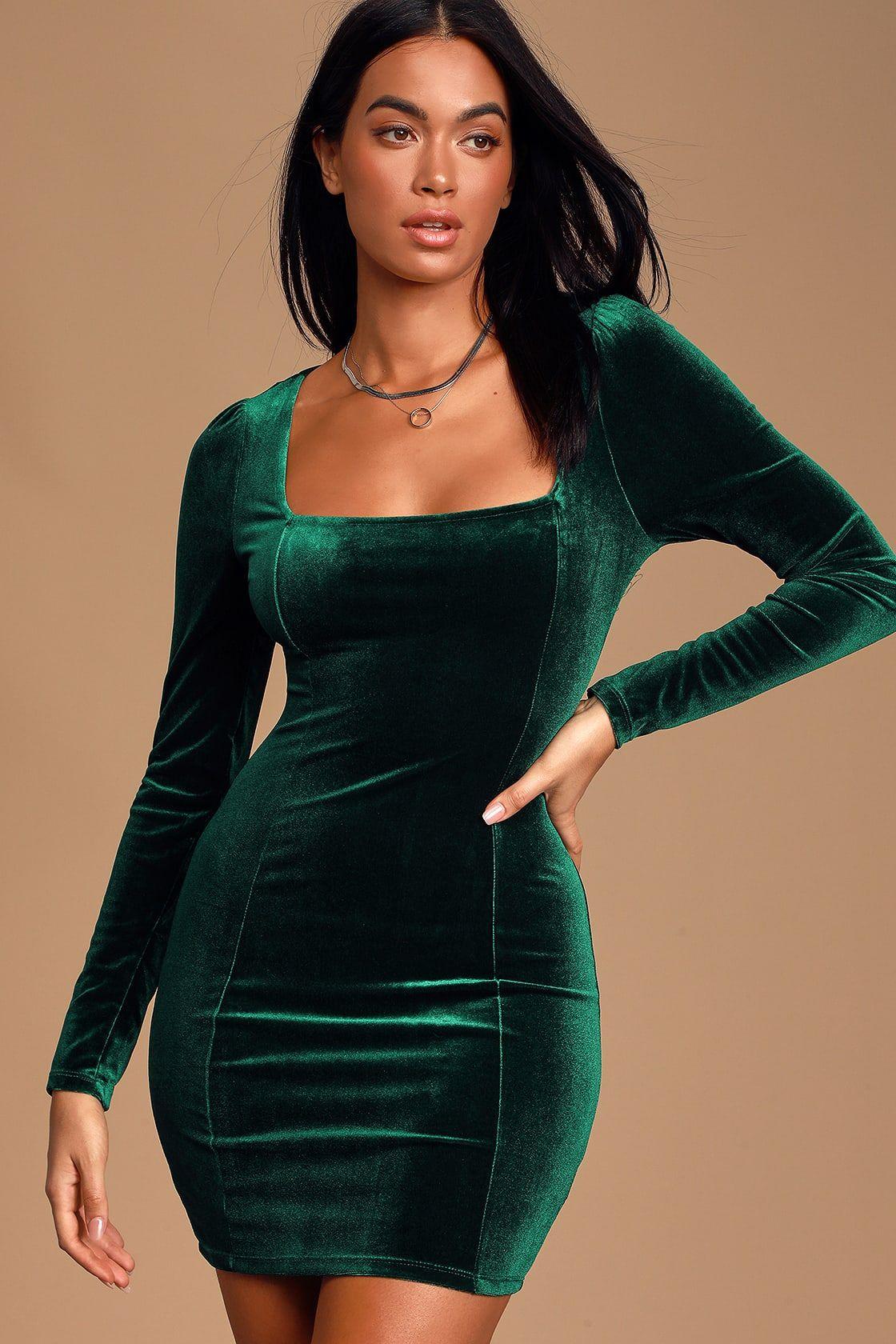 Ansonia Emerald Green Velvet Long Sleeve Bodycon Dress Long Sleeve Bodycon Bodycon Dress Green Velvet Dress [ 1680 x 1120 Pixel ]