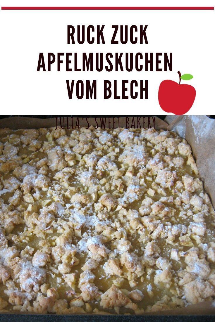 Ruck Zuck Apfelmuskuchen vom Blech - Stacey&DessertRezepte
