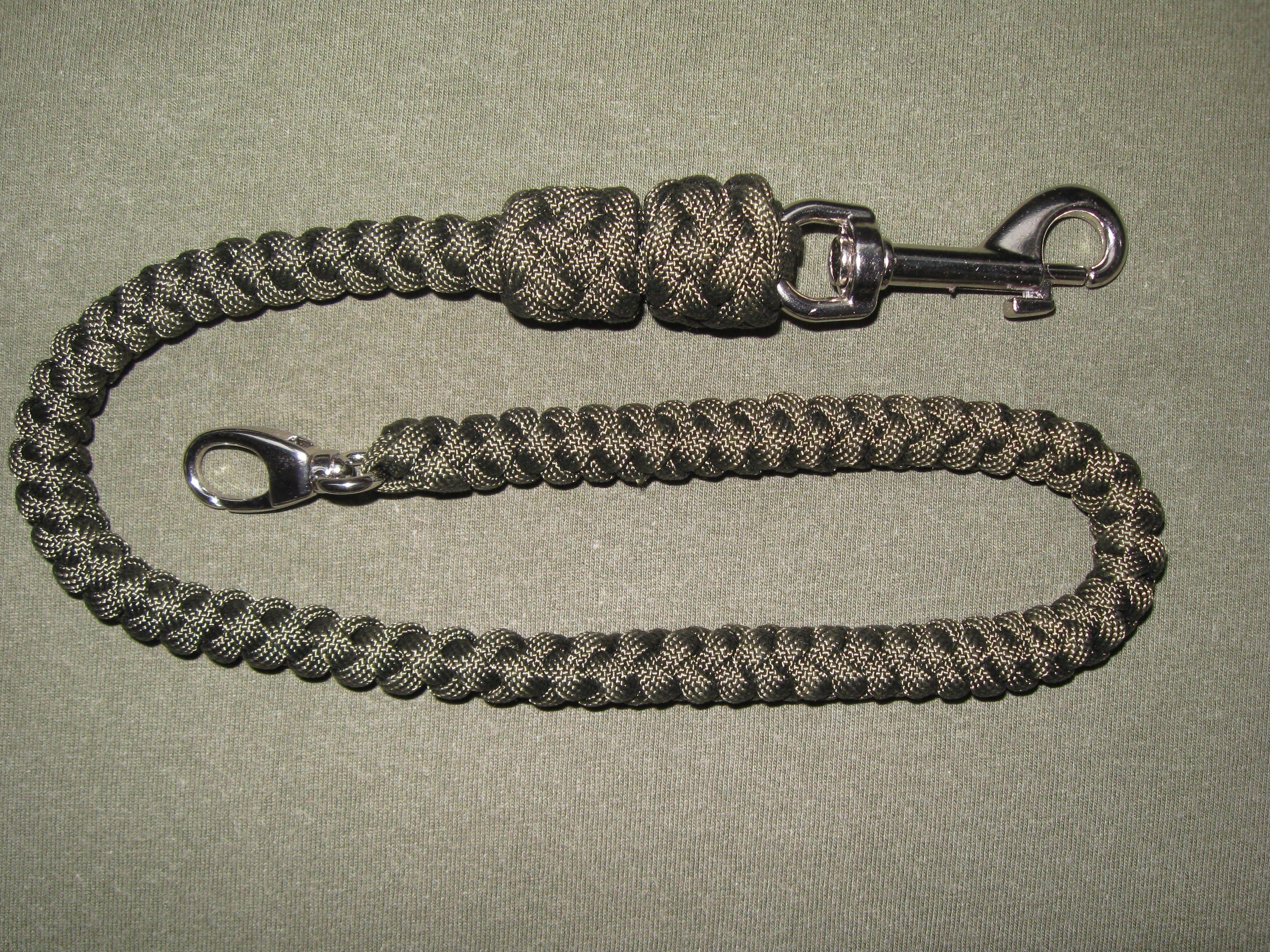 4 strands spiral round braid wallet chain paracord wallet