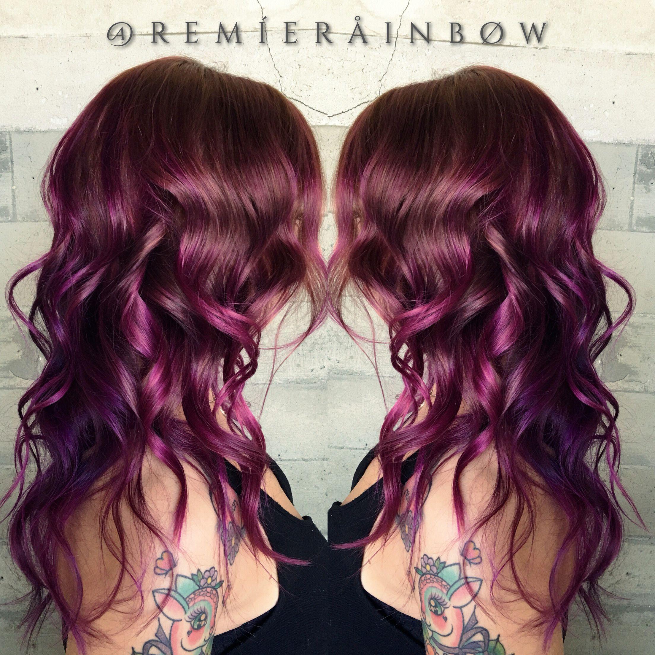 Purple Plum Magenta Berry Colored Hair Hair Ideas Pinterest