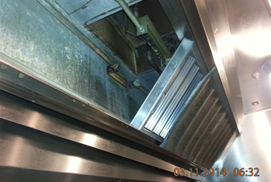 An Example Of A Commercial Hood With 3 Months Of Daily Cooking After The Grease Lock Filter System Installation Commercial Kitchen Fire Safe Kitchen Exhaust