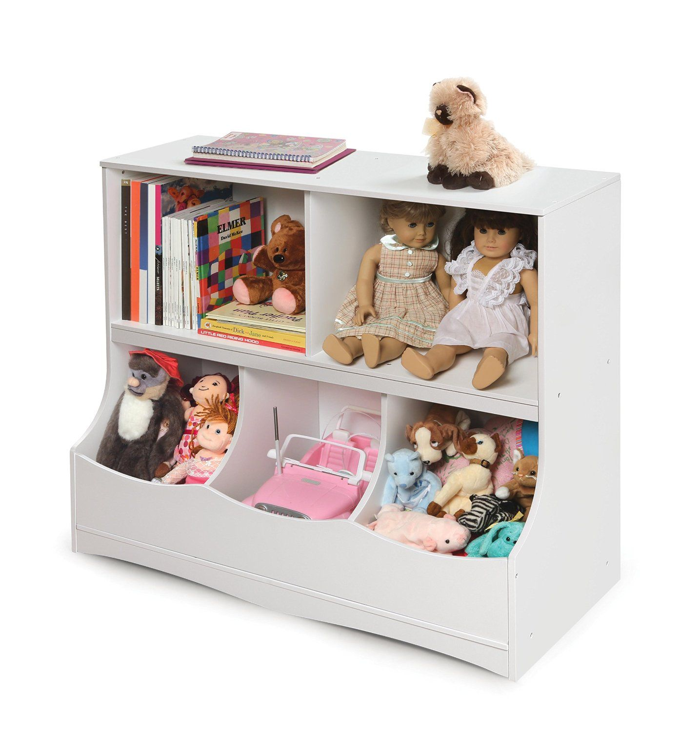 Great storage solution.  Can be used anywhere in the house. http://lovelylittlebubs.com/Storage.html