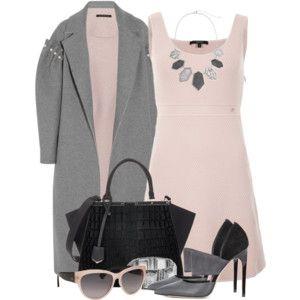 Blush Dress & Oversized Coat