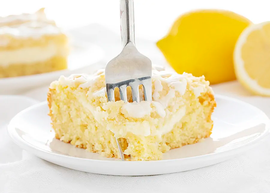 This Lemon Cream Cheese Coffee Cake is completely from-scatch and loaded with pure lemon flavor! The best way to start the day!