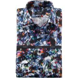 Olymp Signature Hemd, Tailored Fit, Signature Kent, Bleu, 45 Olymp
