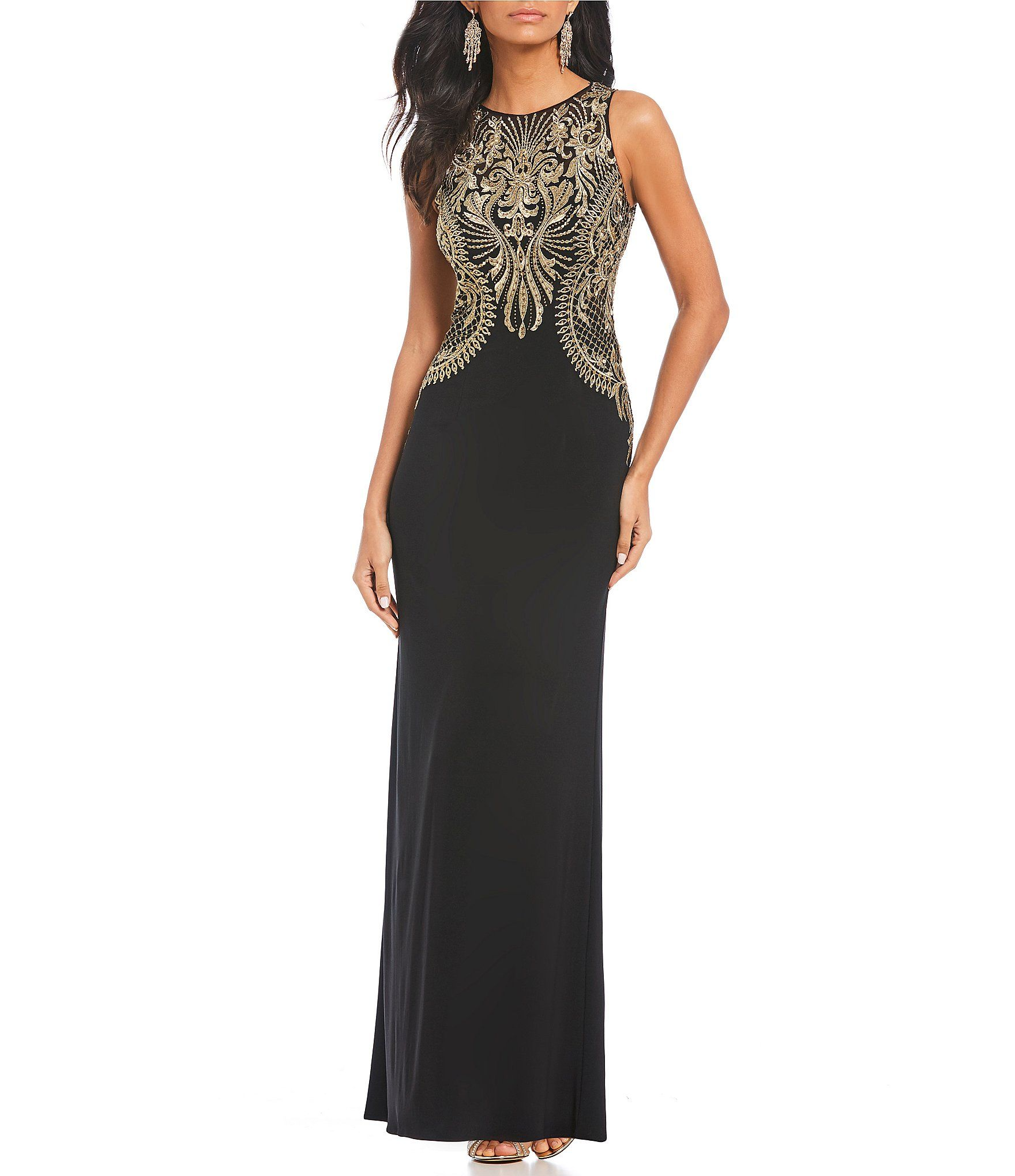 8d7c746477c Cachet Embroidered Gown  Dillards Evening Dresses