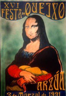 Dende sempre, en Arzúa xogaron ca creatividade para promocionar a festa do queixo. Aquí tedes a súa 16º edición.