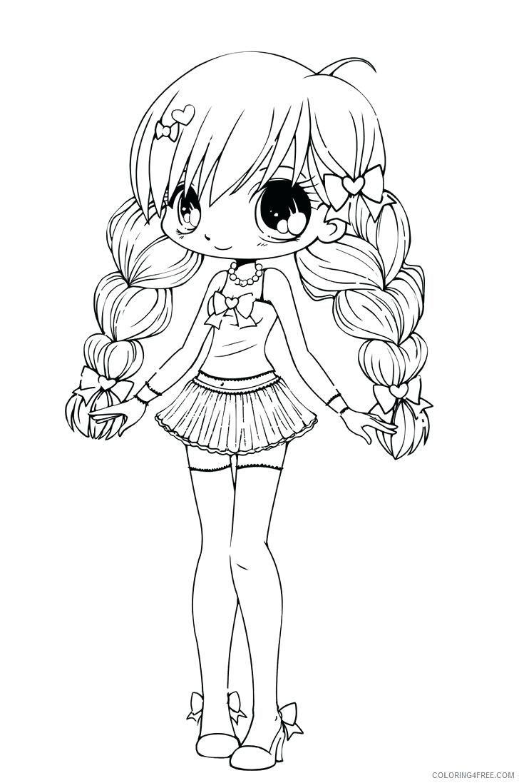 Manga Ausmalbilder Zum Ausdrucken  Chibi coloring pages, Cute