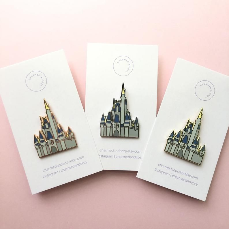 Hard Enamel Pin Walt Disney World Cinderella Castle Inspired Etsy Enamel Pins Hard Enamel Pin Disney World