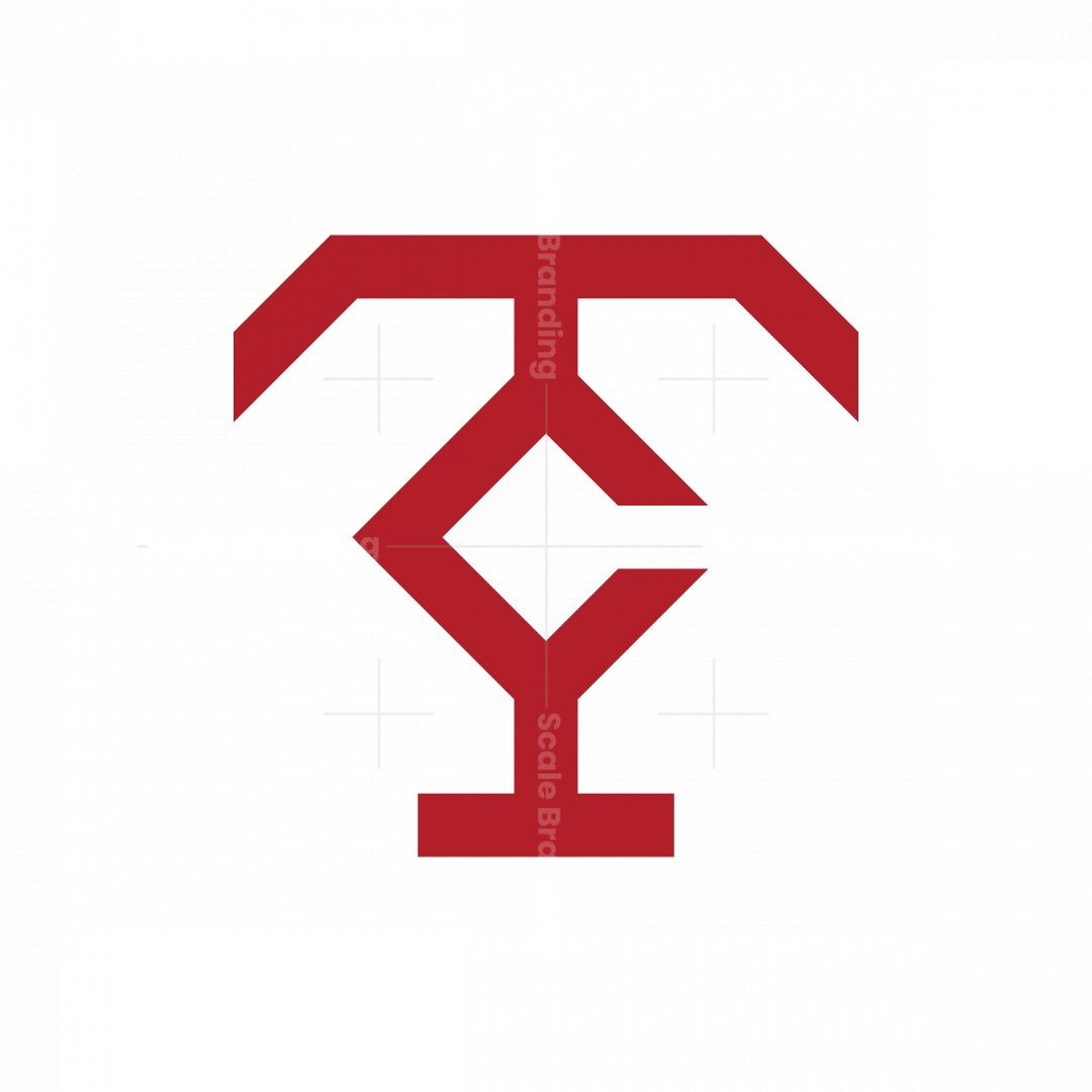 Geometrical Letter Tc Logo In 2021 Geometric Lettering Logo Design