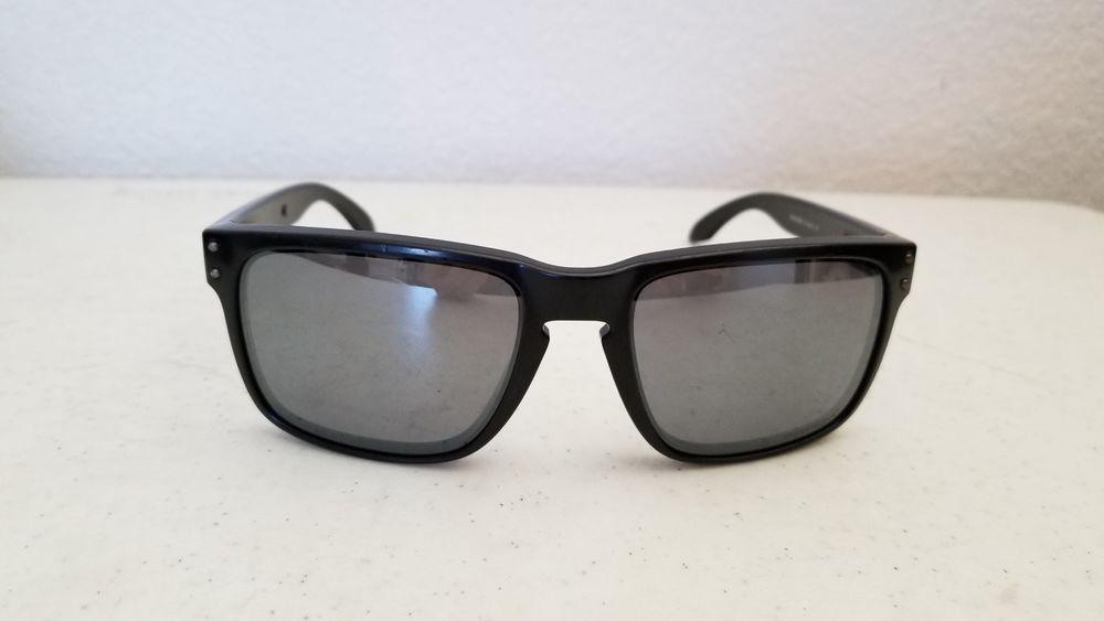 ff7c15566c1  38.95 Used Oakley Holbrook Sunglasses 9102-D655 57o16 137 Matte Black  Frame Frame Only  Oakley  Square