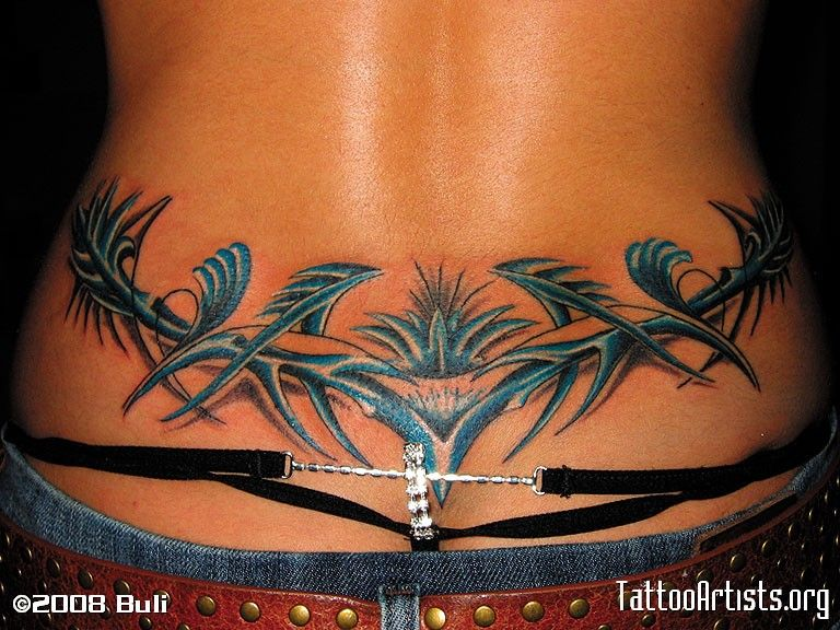 Lower Back 22 Tattoo Artists Org Tribal Tattoos Tribal Back Tattoos Girl Back Tattoos