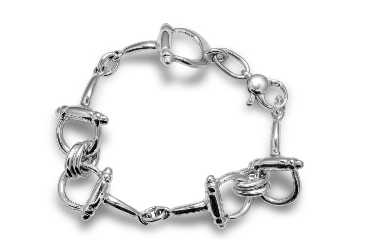Caracol - Inspired Jewelry and Handbags - Horse Bit Bracelet | Contour Fit | Sterling Silver | Caracol Jewelry, $224.00 (http://www.caracolsilver.com/horse-bit-bracelet-contour-fit-sterling-silver-caracol-jewelry/)