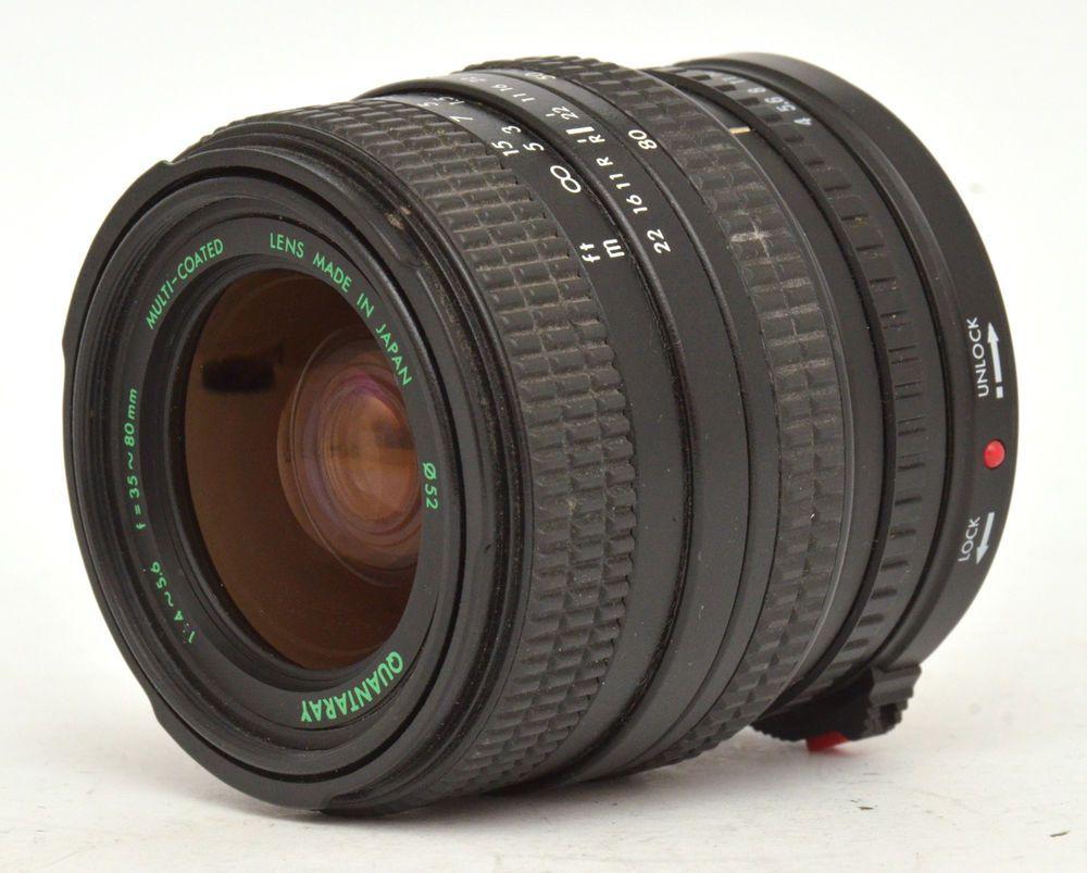 Quantaray Mc 35 80mm F4 5 6 Lens For Canon Fd Mount Good Condition Quantaray Canon Lens Canon Types Of Cameras