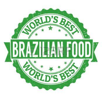 Brasilianische Lebensmittel Grunge Stempel auf wei� photo