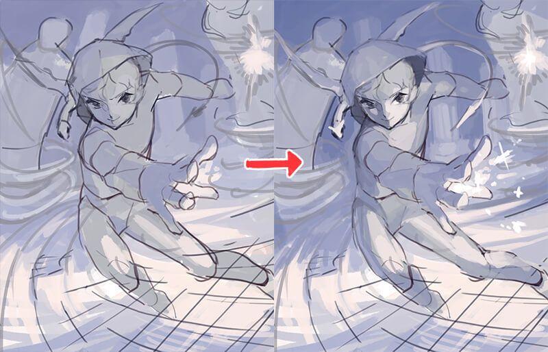 詳細ラフ でイラストの良し悪しが決まる 美麗イラストメイキング 詳細ラフ編 いちあっぷ イラスト 絵画のチュートリアル キャラクターデザイン