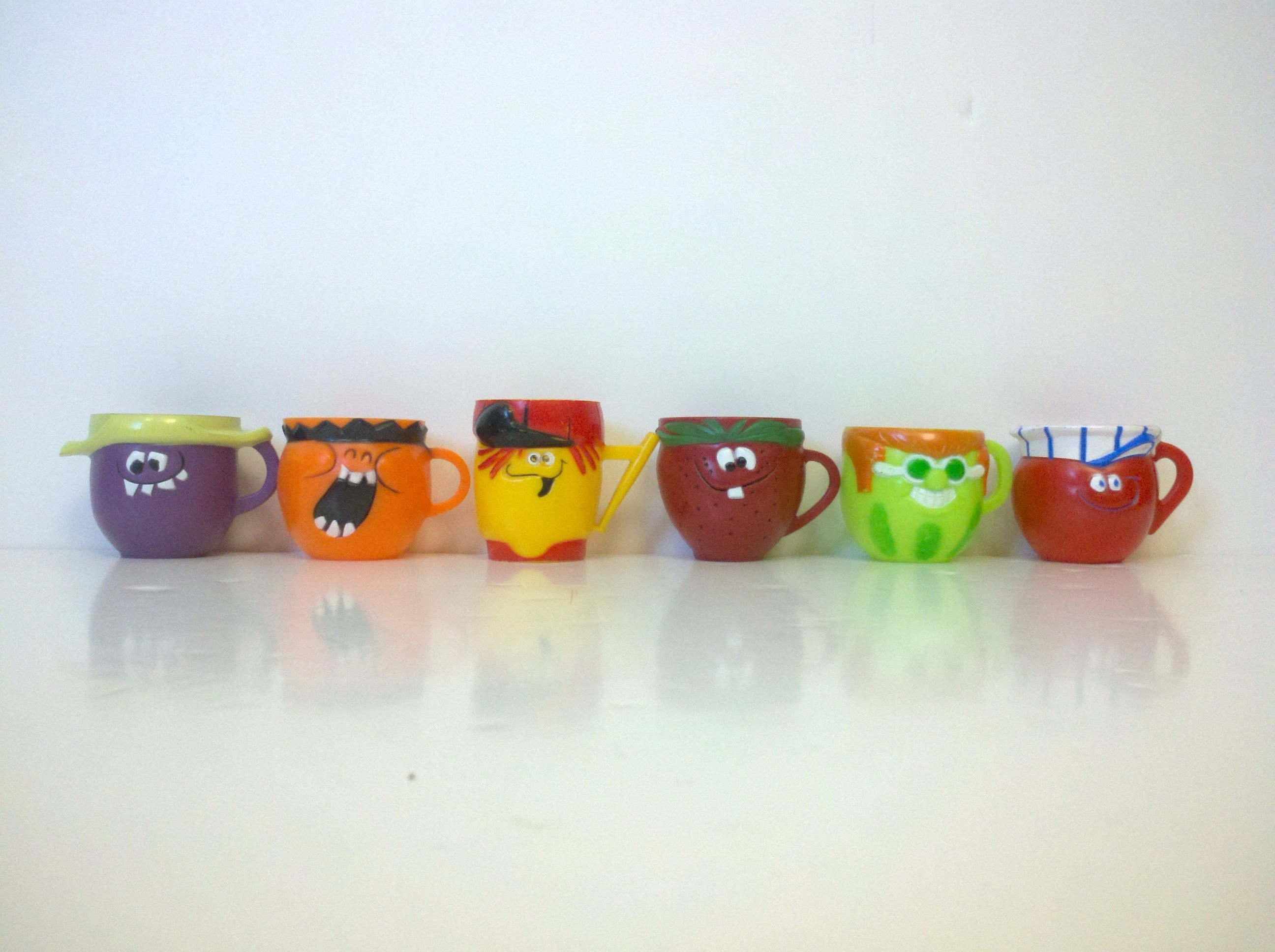 Funny Face Drink-mix Cups   Rockit62 Collectables   School