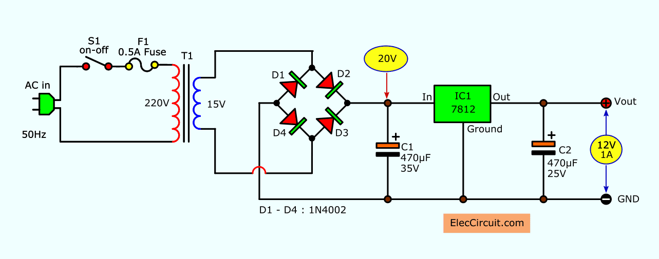 Simple Designing 12V 5A Linear Power Supply | Power supply