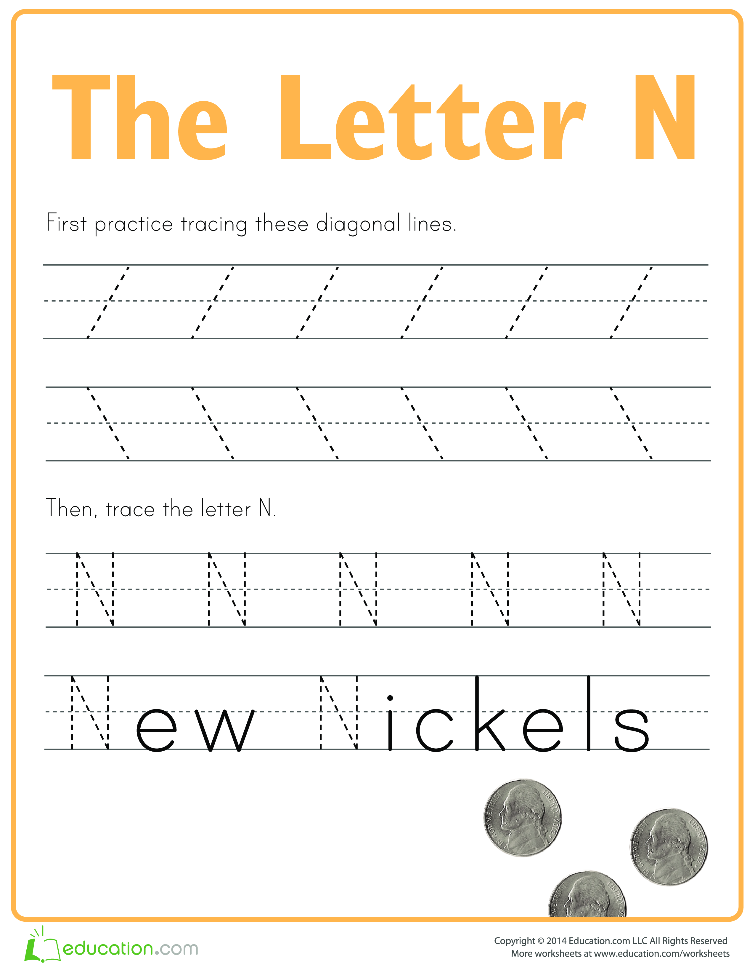 Practice To Write Letter N Download This How To Write Letter N If