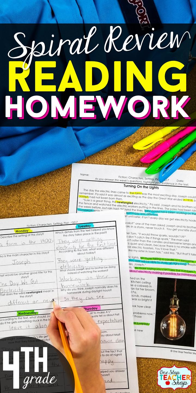 4th Grade Reading Homework | Reading Comprehension ...
