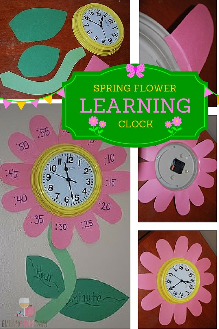Make a spring themed flower clock to teach