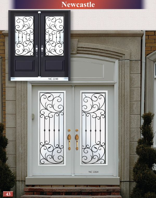 Front Door Glass Inserts Wrought Iron Glass Inserts Stained