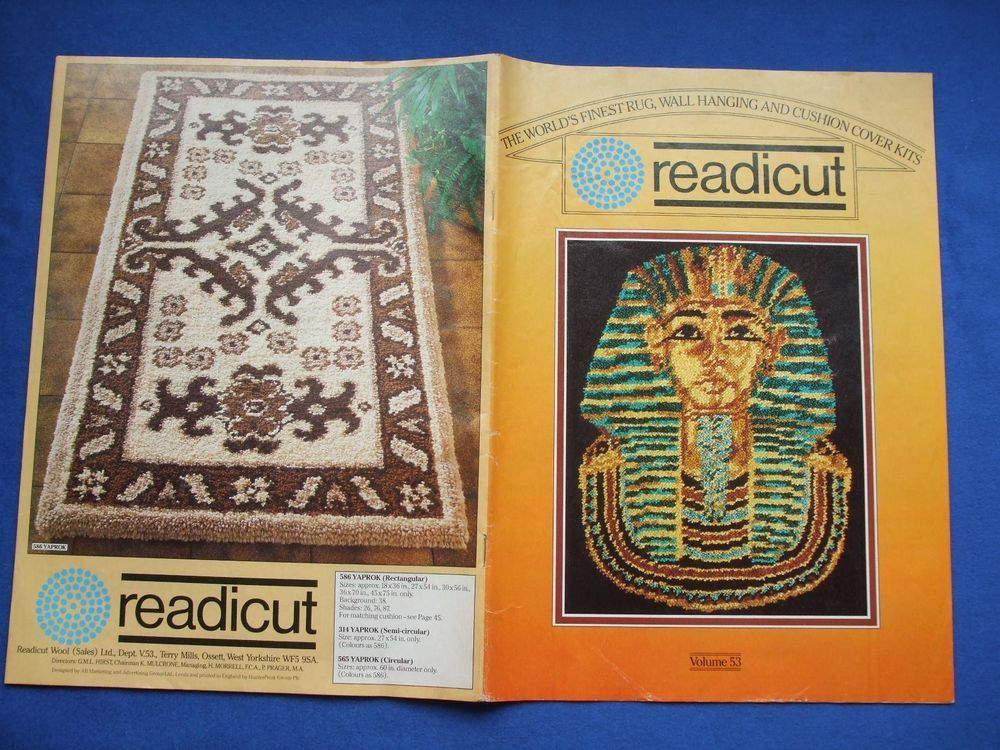 Vintage Readicut Catalogue For Wool Rug