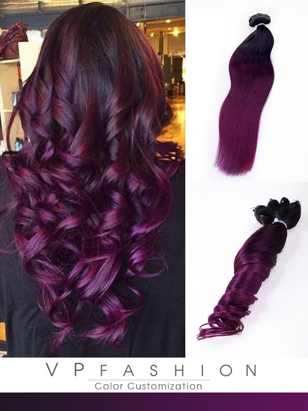 Purple Ombre Colorful Clip In Extensions Cs053 Colorful Hair