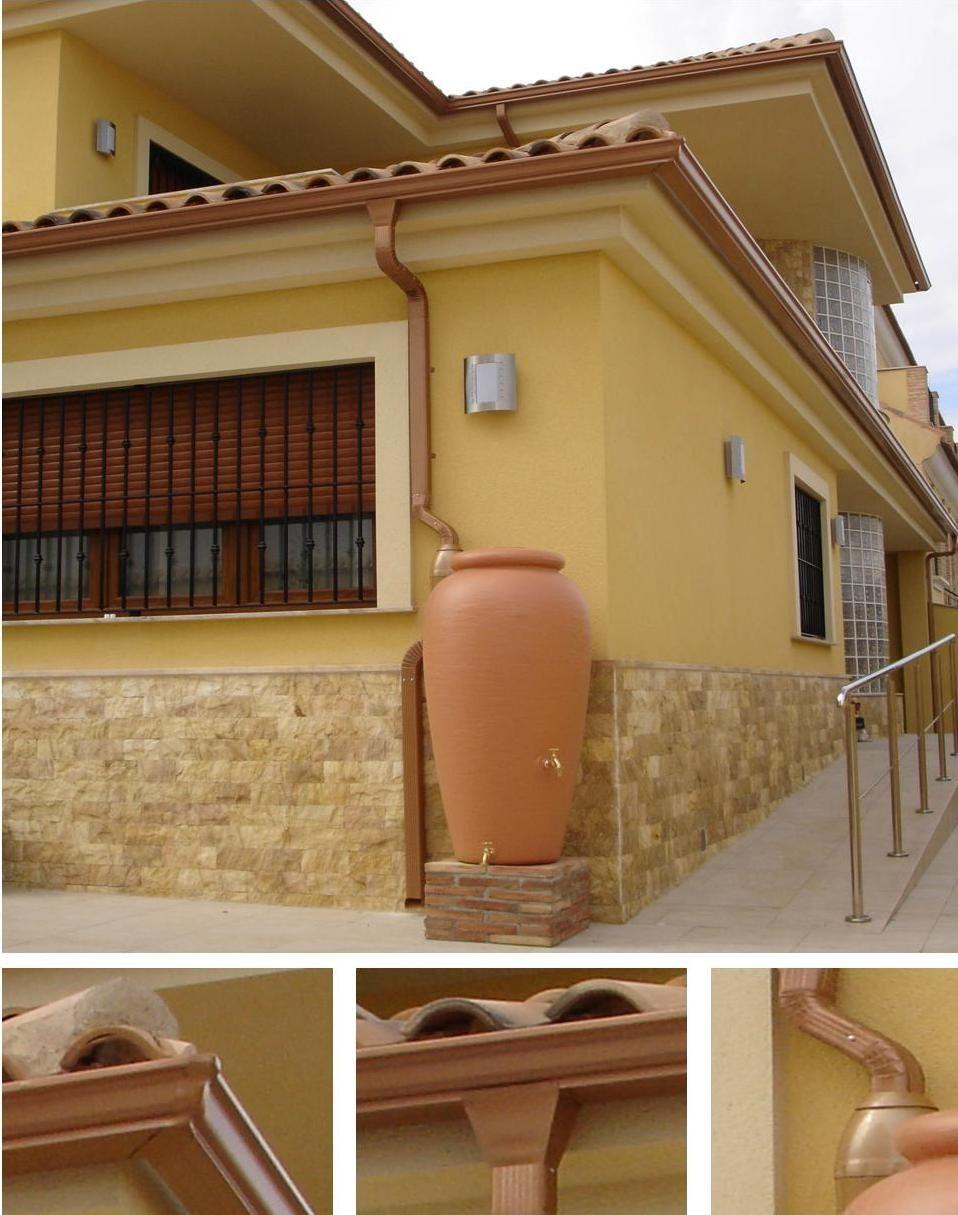 Canalon fluvial canaletas de aluminio reciclaje agua de for Canaletas para techos de madera