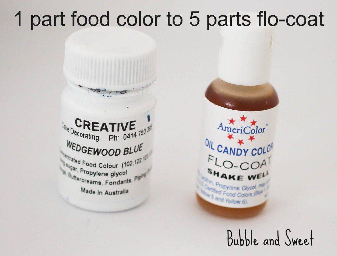 how to use AmeriColor\'s Flow-Coat in white chocolate coloring ...