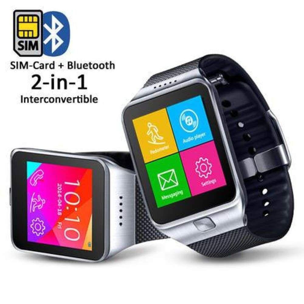 Indigi® SWAP ONE 2in1 SimCard + Bluetooth SmartWatch