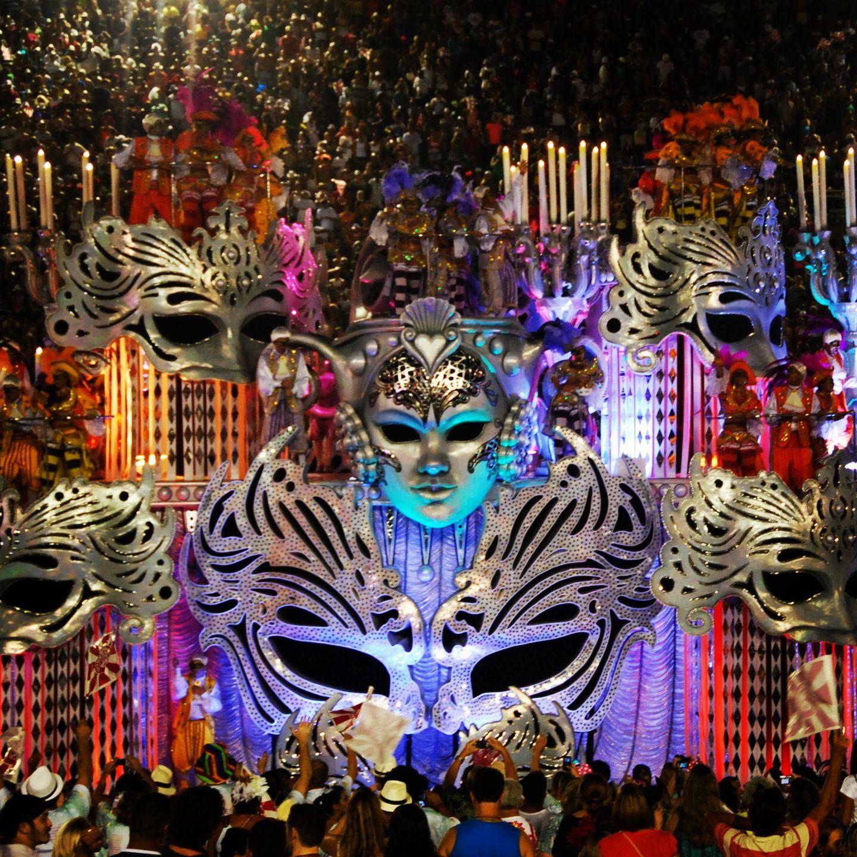 carnival and brazil party theme sambodromo in rio during carnival