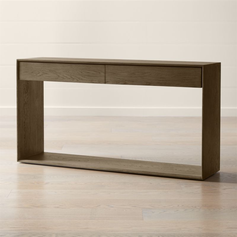 Shop Ethan Console Table Our Ethan Console Table Seamlessly Integrates Living Room Or Office Storage Into A Clean Modern Design Made Of Oak And Oak Veneer Ru