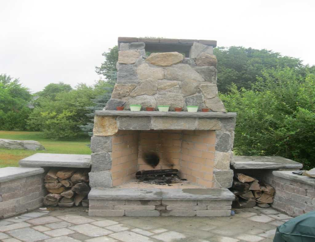 Building fire pit area building outside fire pits build your own