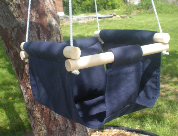 Portable Outdoor and Indoor Fabric Baby Swing. Infant to Toddler. Natural. AmeliesBootieShop  via Etsy.