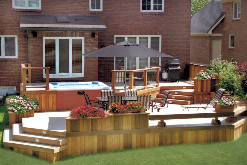 Decking This 2 level deck was built