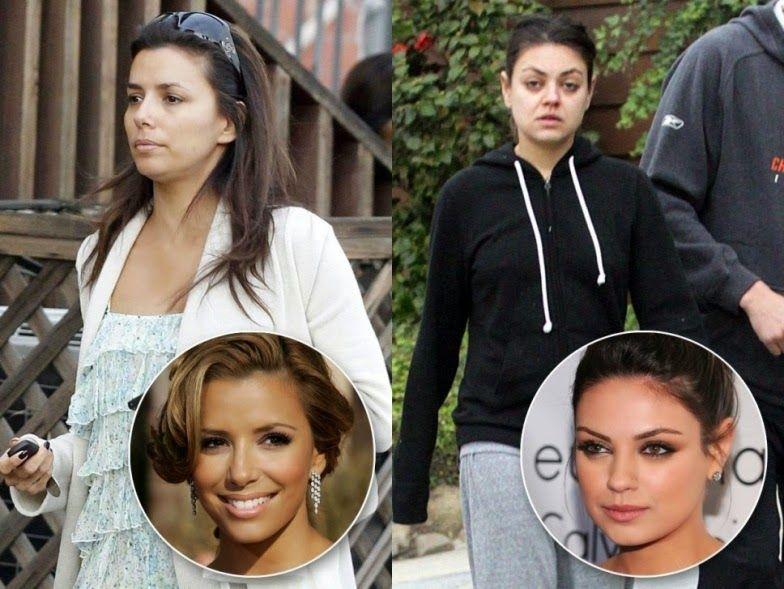 Madrinhas de casamento: Famosas sem maquiagem: antes e depois
