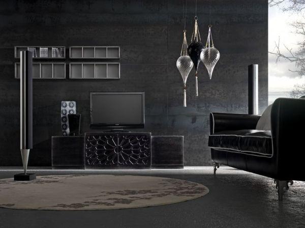 Wohnideen Wohnzimmer Schwarz-Italienisches Möbeldesign Living - wohnzimmer italienisches design