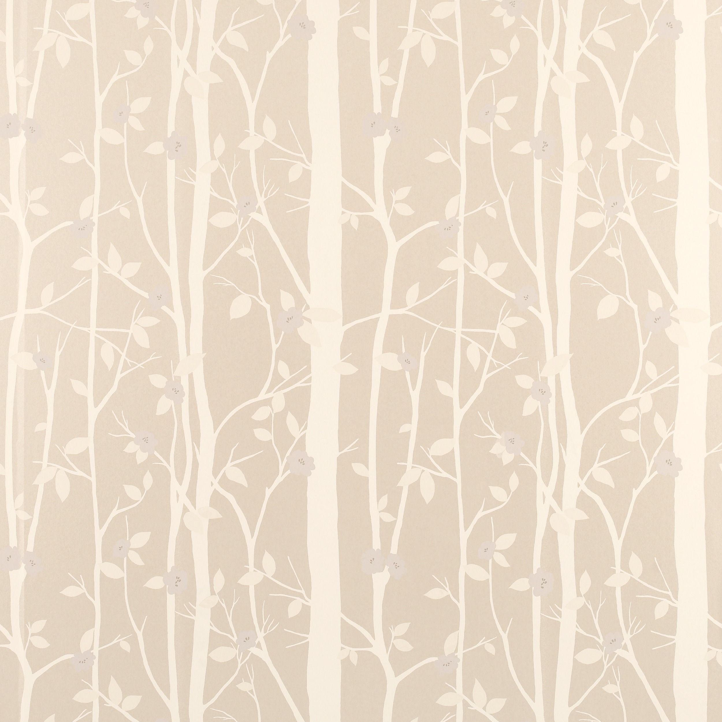 Cottonwood Natural Leaf Wallpaper - at LAURA ASHLEY