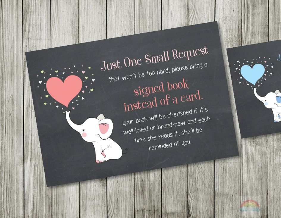 Baby shower book request bring a book instead of a card