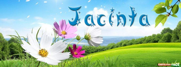 Jacinta - Portadas con nombres para Facebook
