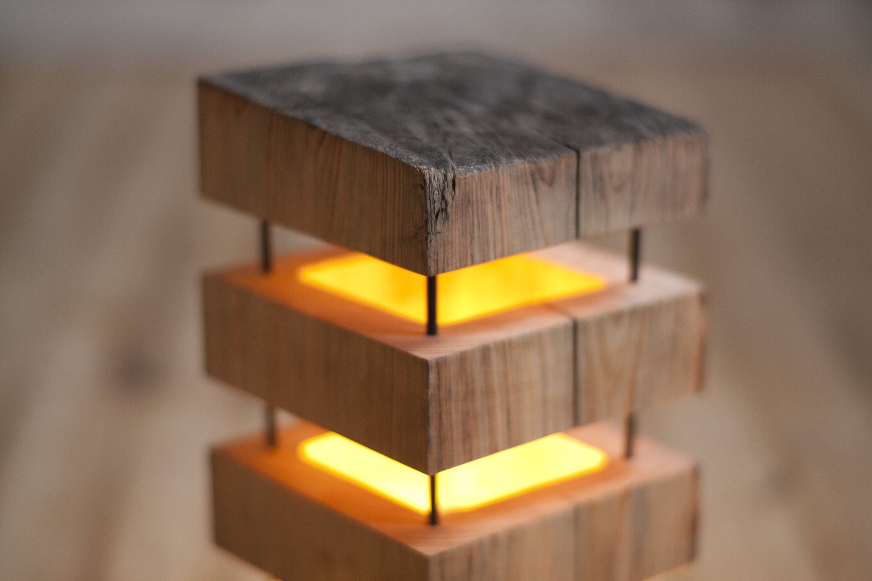 Old cedar beams turned into wooden lamps | Perfect Mood ...