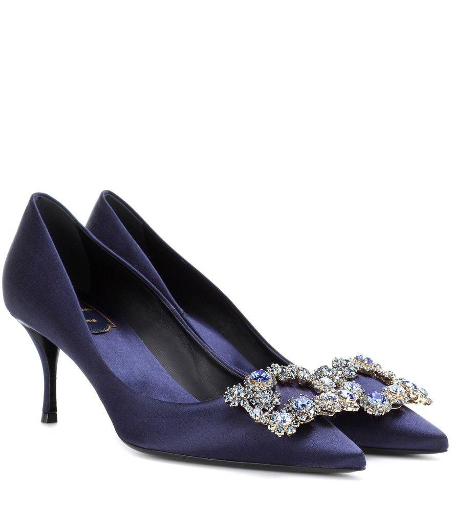 Roger VivierFlower embellished satin pumps mOwWl
