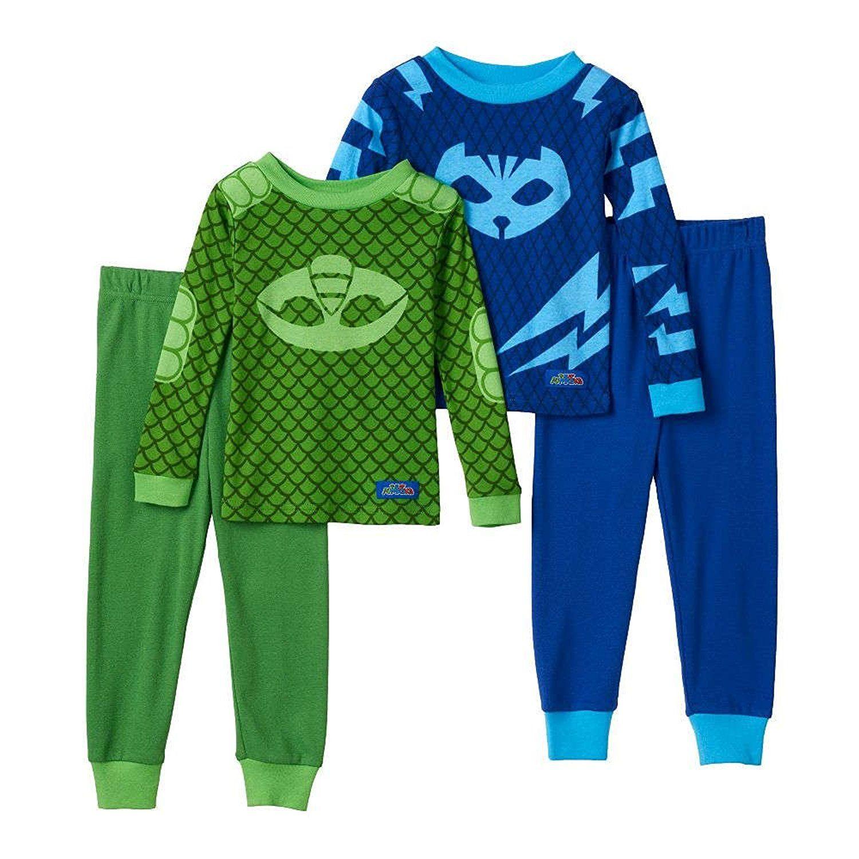 c3ff195d Amazon.com: PJ Masks Gekko & Catboy 4-pc. Pajama Set Toddler Boy: Clothing