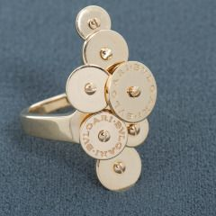 cartier twotone gold ringlets ring