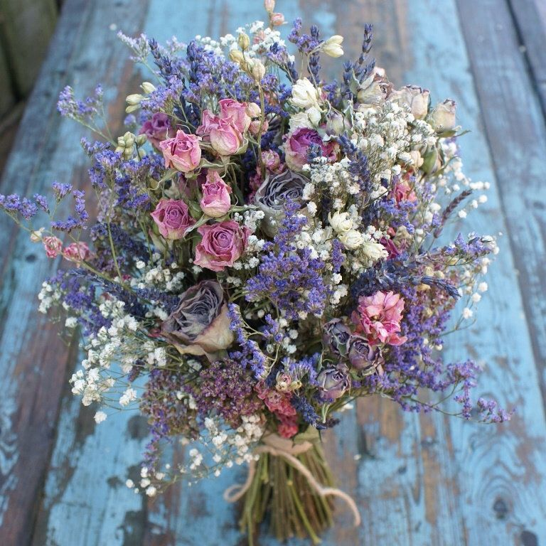 Jewel Rose Garden Dried Flower Wedding Bouquet #weddingbridesmaidbouquets