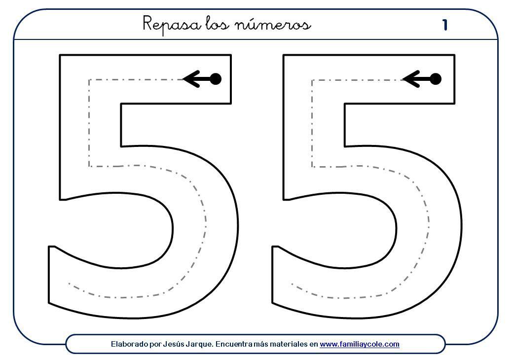 Fichas con actividades para escribir números para niños, dedicadas ...
