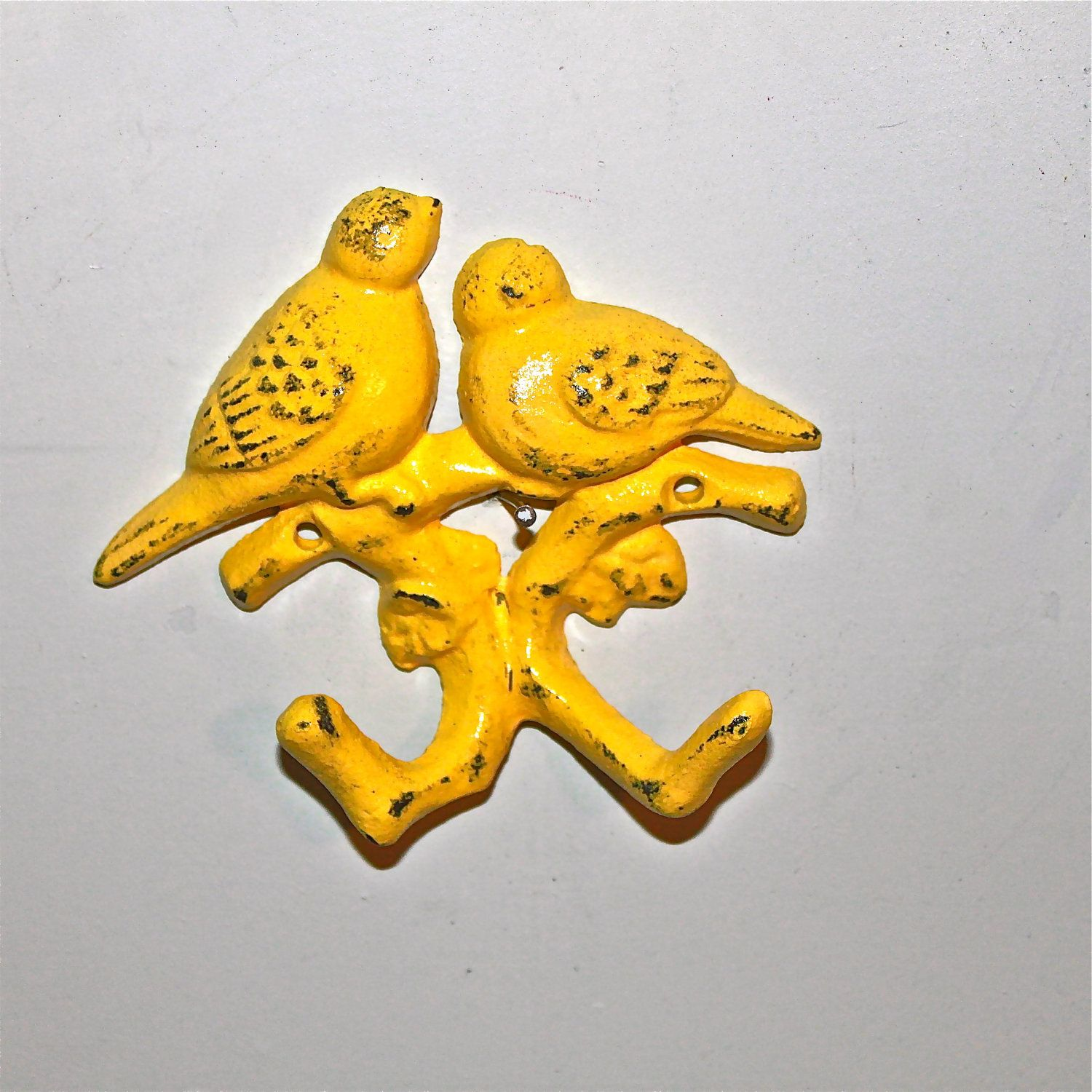 Yellow Bird Wall Hook / Whimsy Love Birds /Whimsical Key hanger ...